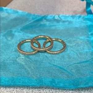 Pandora 14K Gold CZ pave rings